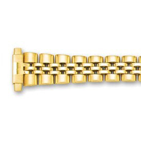 12-17mm Lady Gld-tone Jubilee W/deploy Satin/mirror Watch Band - shopvistar