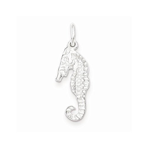 Sterling Silver Seahorse Charm, Best Quality Free Gift Box Satisfaction Guaranteed - shopvistar