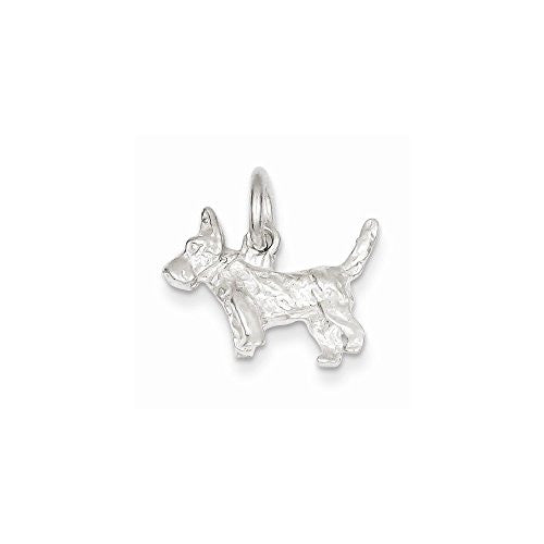 Sterling Silver Scottish Terrier Charm, Best Quality Free Gift Box Satisfaction Guaranteed - shopvistar