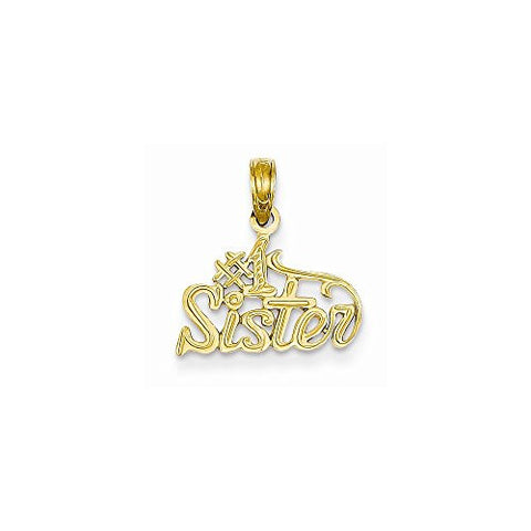 14k 1 Sister Pendant, Best Quality Free Gift Box Satisfaction Guaranteed - shopvistar