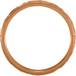 14K Rose Gold Design Band, Size: 8 - shopvistar