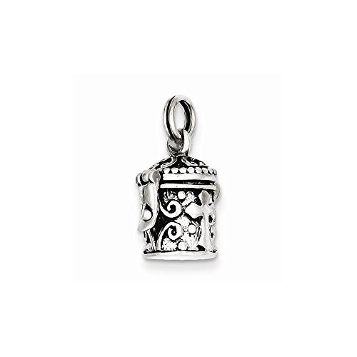 Sterling Silver Antiqued Cross Prayer Box Charm, Best Quality Free Gift Box Satisfaction Guaranteed - shopvistar
