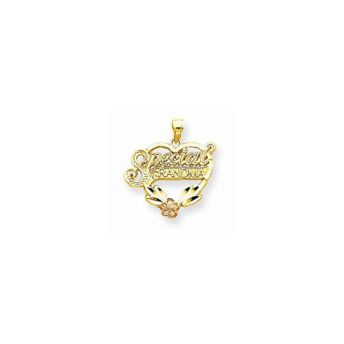 10k Two-tone Special Grandma Heart Charm, Best Quality Free Gift Box Satisfaction Guaranteed - shopvistar