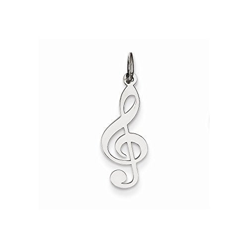 Sterling Silver Treble Clef, Best Quality Free Gift Box Satisfaction Guaranteed - shopvistar