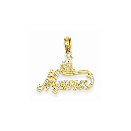 14k 1 Mama Pendant, Best Quality Free Gift Box Satisfaction Guaranteed - shopvistar