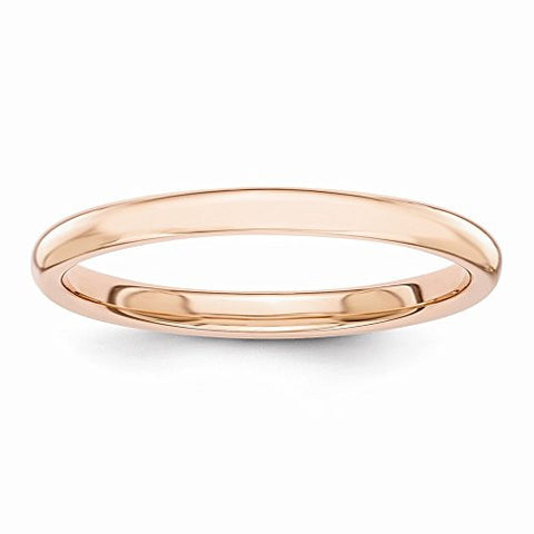 14k Rose Gold Polished 2mm Band, Best Quality Free Gift Box Satisfaction Guaranteed - shopvistar