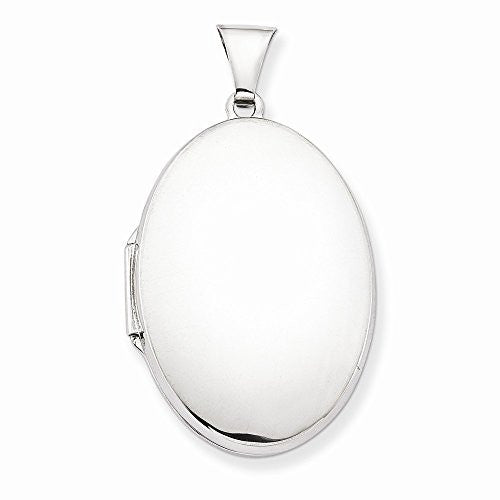 Sterling Silver Polished 32mm 2-frame Oval Locket, Best Quality Free Gift Box Satisfaction Guaranteed - shopvistar
