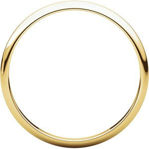 10K Yellow Gold Light Half Round Band, Size: 12 - shopvistar