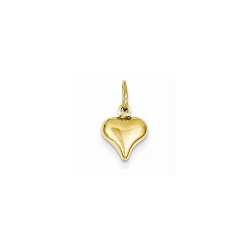 14k Mini Puffed Heart Charm, Best Quality Free Gift Box Satisfaction Guaranteed - shopvistar