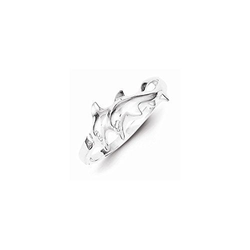 Sterling Silver Dolphin Ring, Best Quality Free Gift Box Satisfaction Guaranteed - shopvistar
