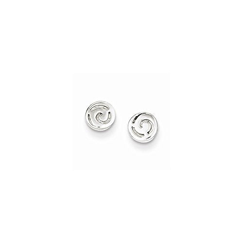 Sterling Silver Swirl Post Earrings, Best Quality Free Gift Box Satisfaction Guaranteed - shopvistar