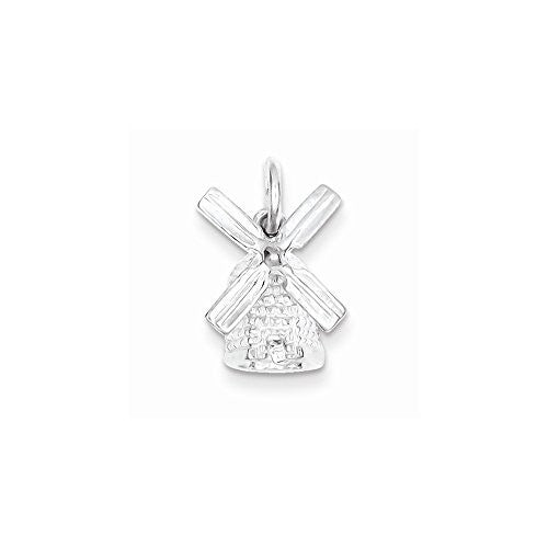 Sterling Silver Windmill Charm, Best Quality Free Gift Box Satisfaction Guaranteed - shopvistar