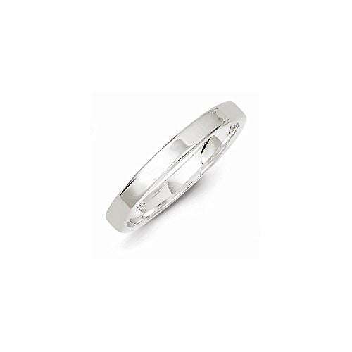 Sterling Silver 3mm Flat Band, Best Quality Free Gift Box Satisfaction Guaranteed - shopvistar