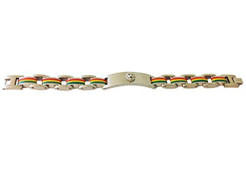 Stainless Steel Tri Color Lion Leo Bracelet with Vi Star Polishing Cloth - shopvistar
