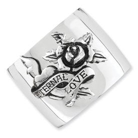Stainless Steel Eternal Love Cuff Bracelet by Ed Hardy Jewelry, Best Quality Free Gift Box Satisfaction Guaranteed - shopvistar