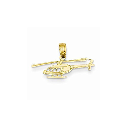 14k Helicopter Pendant, Best Quality Free Gift Box Satisfaction Guaranteed - shopvistar