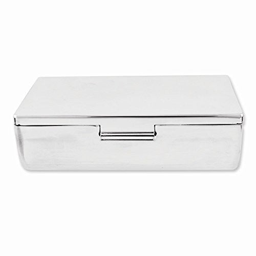 Silver-plated Rectangular Mirrored Double Lipstick Case - shopvistar