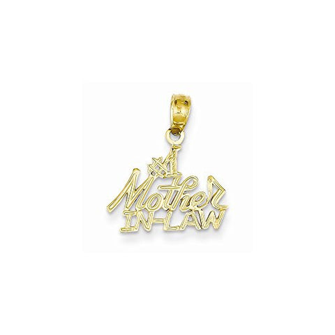 14k 1 Mother In-law Pendant, Best Quality Free Gift Box Satisfaction Guaranteed - shopvistar