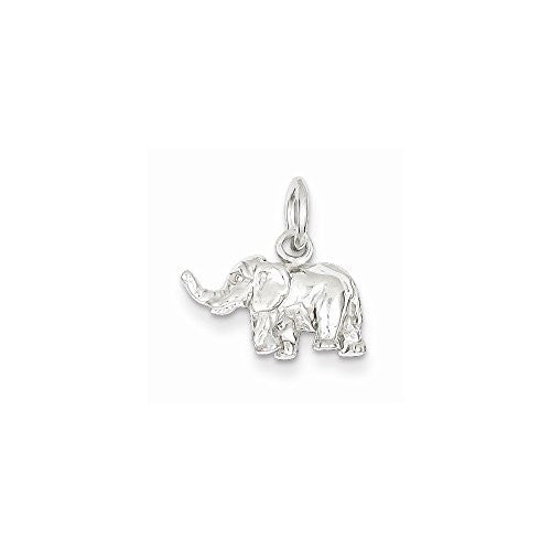 Sterling Silver Elephant Charm, Best Quality Free Gift Box Satisfaction Guaranteed - shopvistar