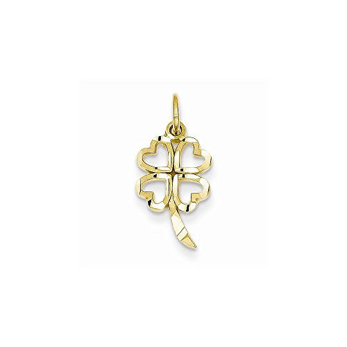 14k 4 Leaf Clover Charm, Best Quality Free Gift Box Satisfaction Guaranteed - shopvistar
