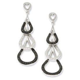 Sterling Silver & CZ Brilliant Embers Teardrop Dangle Post Earrings - shopvistar