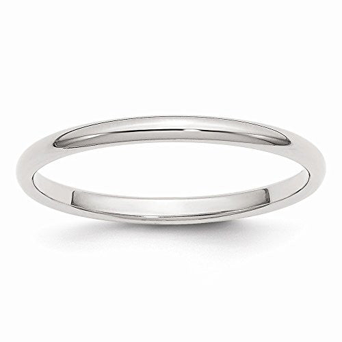Sterling Silver 2mm Half-round Band, Best Quality Free Gift Box Satisfaction Guaranteed - shopvistar