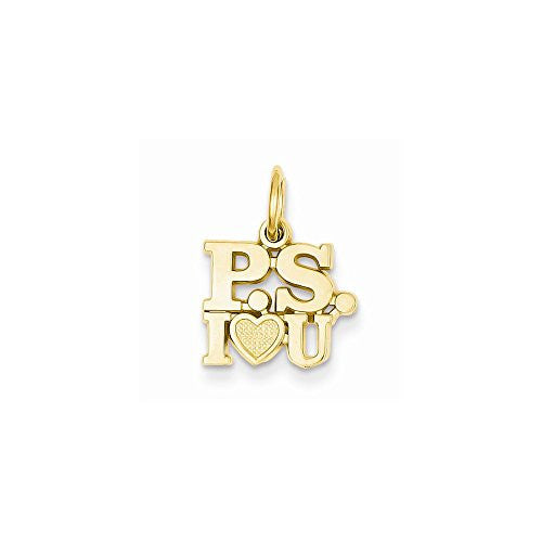 14k P.s. I Love You Charm, Best Quality Free Gift Box Satisfaction Guaranteed - shopvistar