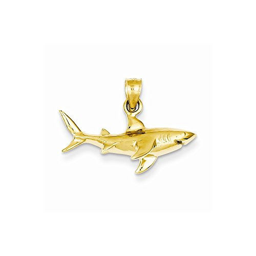 14k Shark Pendant, Best Quality Free Gift Box Satisfaction Guaranteed - shopvistar