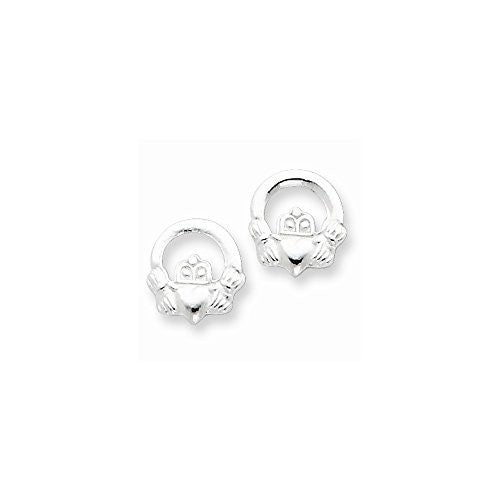 Sterling Silver Claddagh Post Earrings - shopvistar
