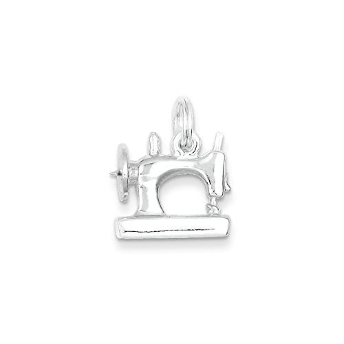 Sterling Silver Sewing Machine Charm, Best Quality Free Gift Box Satisfaction Guaranteed - shopvistar