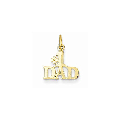 14k 1 Dad Charm, Best Quality Free Gift Box Satisfaction Guaranteed - shopvistar