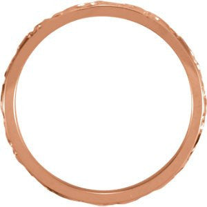 14K Rose Gold Design Band, Size: 7 - shopvistar