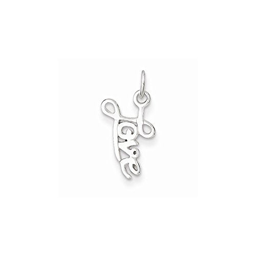 Sterling Silver Love Pendant, Best Quality Free Gift Box Satisfaction Guaranteed - shopvistar