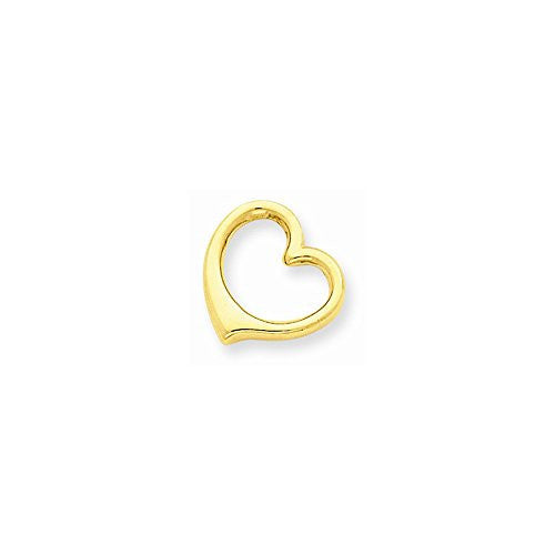 14k 3-d Floating Heart Slide, Best Quality Free Gift Box Satisfaction Guaranteed - shopvistar