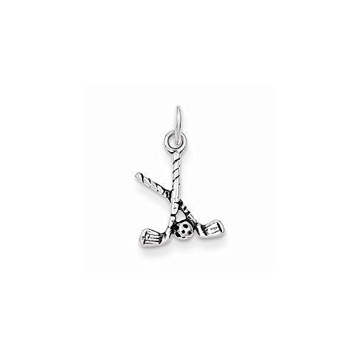 Sterling Silver Antiqued Golf Clubs W/ball Charm, Best Quality Free Gift Box Satisfaction Guaranteed - shopvistar