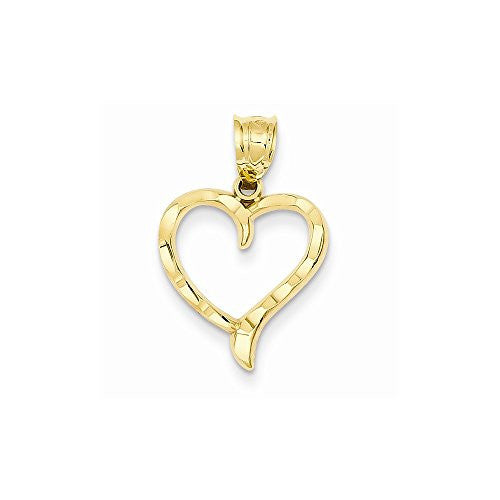 14k Heart Charm, Best Quality Free Gift Box Satisfaction Guaranteed - shopvistar