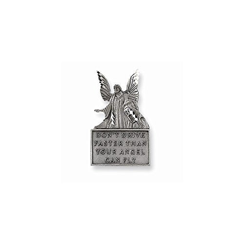 Pewter Guardian Angel Car Visor Clip - shopvistar