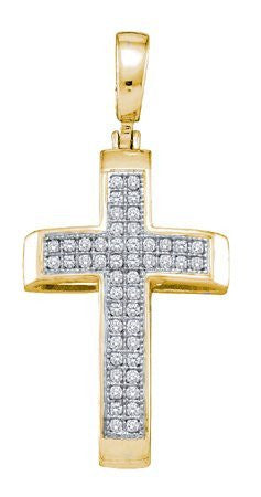 0.14ctw Diamond Cross Pendant - shopvistar