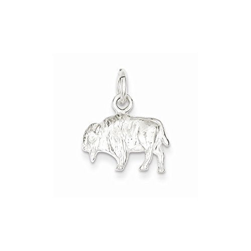 Sterling Silver Buffalo Charm, Best Quality Free Gift Box Satisfaction Guaranteed - shopvistar