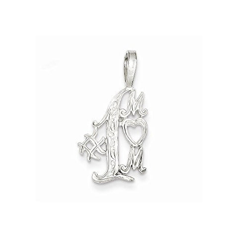 Sterling Silver 1 Mom Charm, Best Quality Free Gift Box Satisfaction Guaranteed - shopvistar