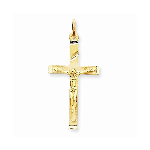 14k Crucifix Pendant, Best Quality Free Gift Box Satisfaction Guaranteed - shopvistar