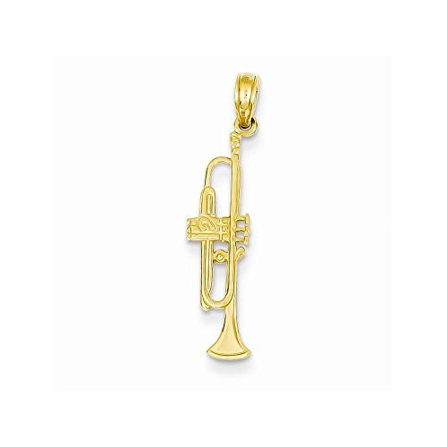 14k Trumpet Pendant, Best Quality Free Gift Box Satisfaction Guaranteed - shopvistar