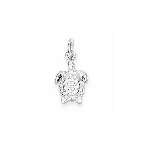 Sterling Silver Turtle Charm, Best Quality Free Gift Box Satisfaction Guaranteed - shopvistar