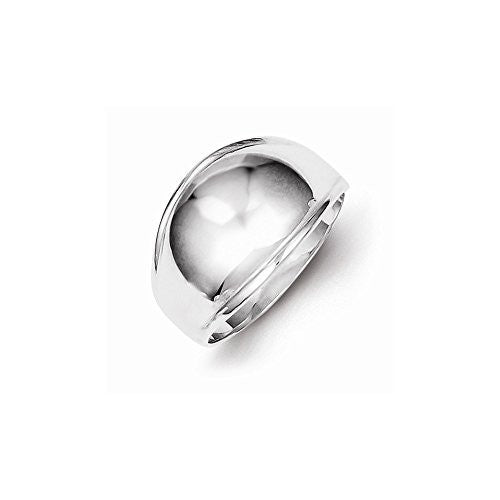 Sterling Silver Fancy Polished Domed Ring, Best Quality Free Gift Box Satisfaction Guaranteed - shopvistar