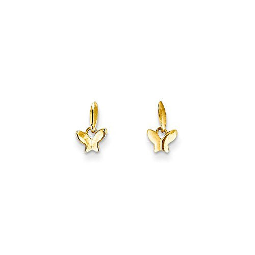 14k Madi K Polished Butterfly Post Dangle Earrings, Best Quality Free Gift Box Satisfaction Guaranteed - shopvistar