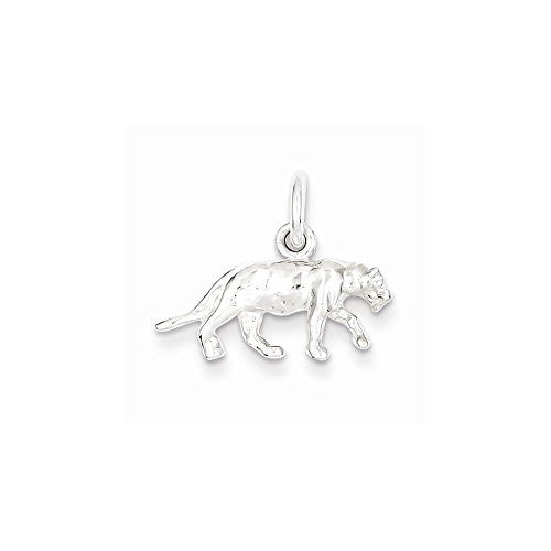 Sterling Silver Panther Charm, Best Quality Free Gift Box Satisfaction Guaranteed - shopvistar