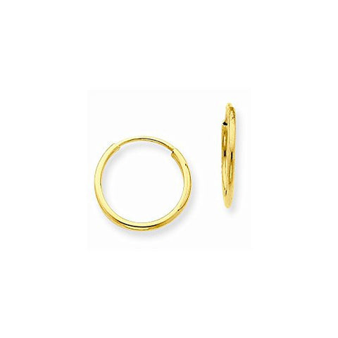 14k 1.25mm Endless Hoop Earring - shopvistar