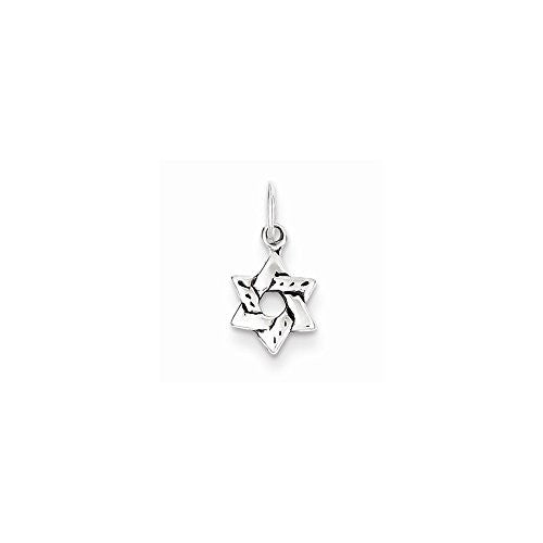 Sterling Silver Small Star Of David Charm, Best Quality Free Gift Box Satisfaction Guaranteed - shopvistar