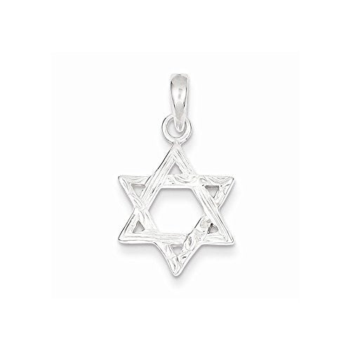 Sterling Silver Textured Star Of David Pendant, Best Quality Free Gift Box Satisfaction Guaranteed - shopvistar