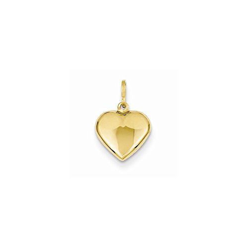 14k Puffed Heart Charm, Best Quality Free Gift Box Satisfaction Guaranteed - shopvistar